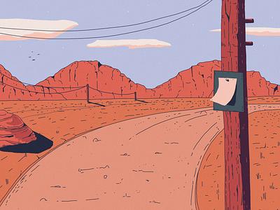 Canyon pole canyon red landscape illustration