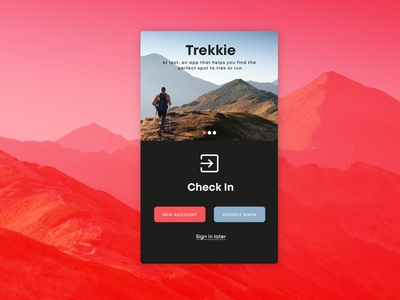 Daily UI 016 - Check in concept design web design ux ui design ui product design mobile application app web