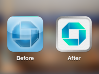 Chase app icon concept