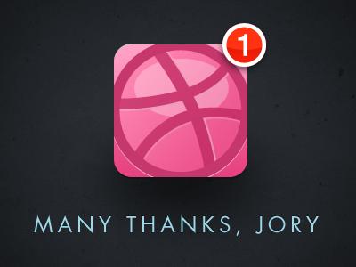 Dribbble thanks jory