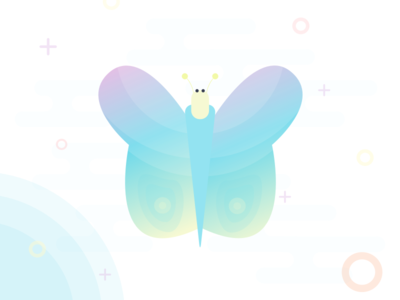 Butterfly Illustration illustration beautiful colours gradient playful awesome cool butterfly