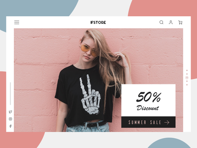 Fashion Store Exploration landing website ux ui daily exploration store fashion