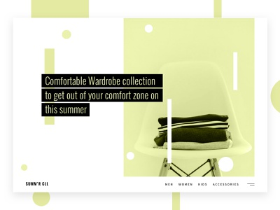 Minimal Clothing StoreConcept minimal landing website typography ux ui inspiration experiment