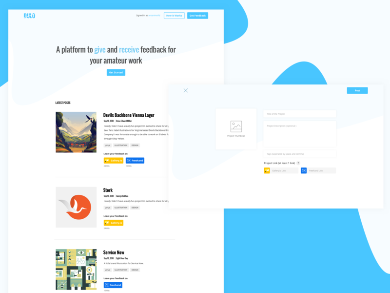 Dulo responsive design webapp minimal colours typography design ux ui