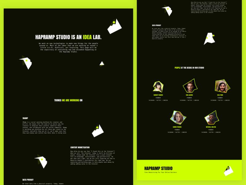Landing Page Exploration exploration landing experiment minimal website colours typography ux ui