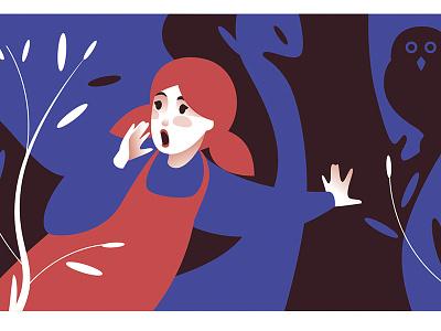 Three bears girl red blue fairy-tail