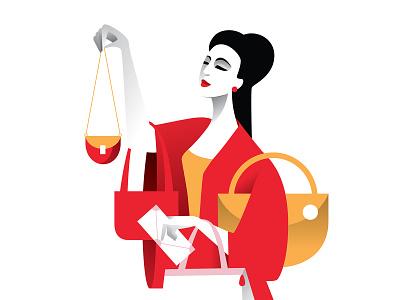 Designer bag for the date fashion china red vector art art vector illustration