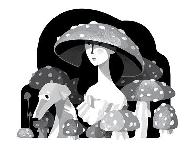 Inktober_2018  POISONOUS black  white illustration vector art vector inktober2018