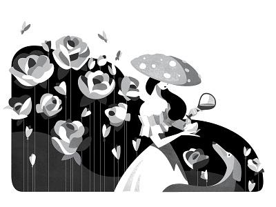 Inktober_2018 EXHAUSTED flowers black  white inktober inktober2018 vector art vector illustration