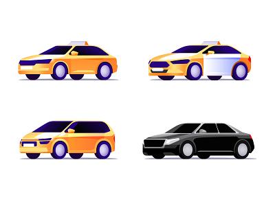 Citymobil Car Icons (Iteration #1) tariff cab taxi auto car illustration