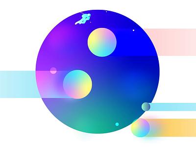 Illustration Style Experiment #1 planet space animation motion illustration