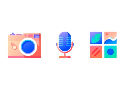 Illustration Style Experiment #2 media audio mic camera photo illustration animation