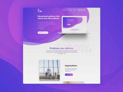 Educational platform landing page concept app design ux design agency ux design hero shot website content-first landing page ui