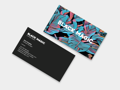 business card black magic by daniel d dribbble