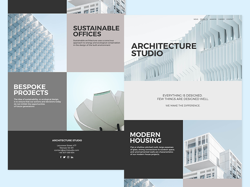Website: Architecture Studio by Daniel D  on Dribbble