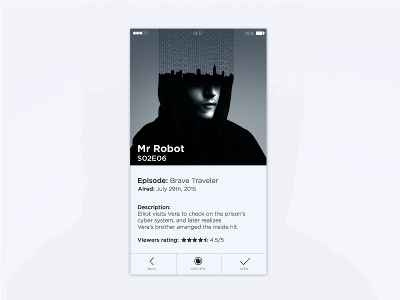 TV Shows App for iOS by Daniel D  on Dribbble