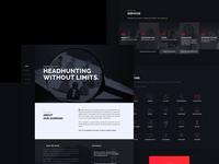Black theme Homepage Design