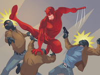 Daredevil kickin' ass