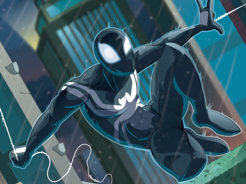 Nobody knows who you are vectorart vector comicbookartist comicbookart comicbooks marvel comics mcu marvelcomics marvel symbiote venom spiderman spidey
