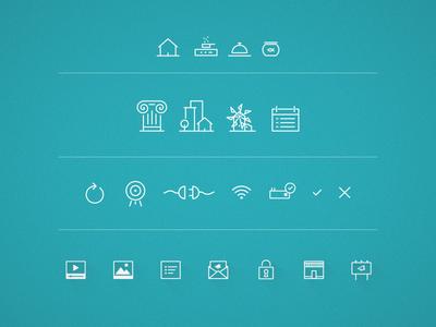 Icons wifi locker video target stove house design inspiration minimal icons