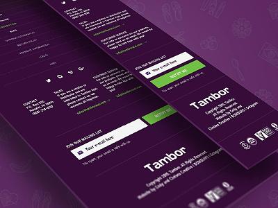 Tambor eShop purple website açaí web shop eshop web design e-commerce inspiration ux