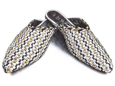 Le Motif  clogs shoes product illustration leather fashion inspiration illustration bic pen ballpoint