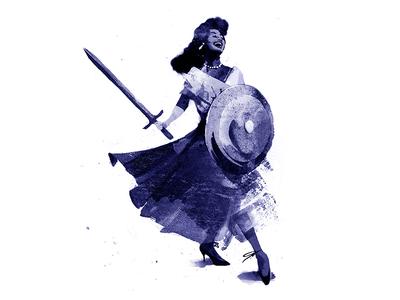 Negroland: A Memoir chicago 50s warrior black editorial illustration blue civil rights empowerment power woman de volkskrant