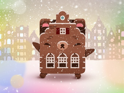 Beary holidays! christmas winter the netherlands cookie cute city snow fan art holidays bear amsterdam alpha bear