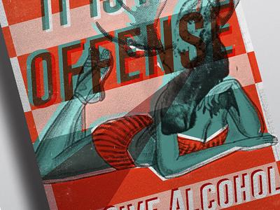 Silkscreen Moose Poster