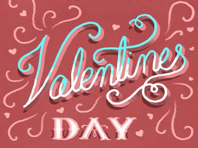Valentines Day Handlettering