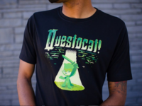 Questocat T-shirt 8-bit pixelart games video typography pixel design t-shirt