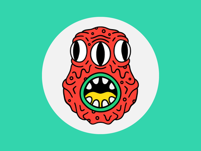Kaiju Conrad eyes face illustration character monster kaiju