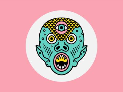 Kaiju Zacherley creature weird eyes face illustration character monster kaiju