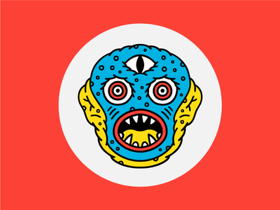 Kaiju Ruth creature weird illustration face eyes character monster kaiju