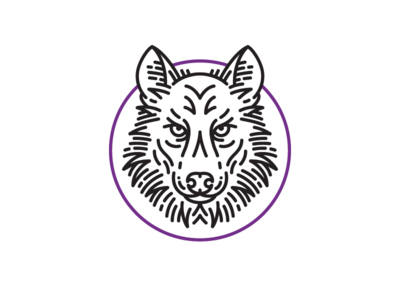 Wolf icon wolf stroke face animal wip