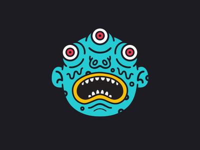 The Eyes weird monster kaiju illustration face eyes creature character