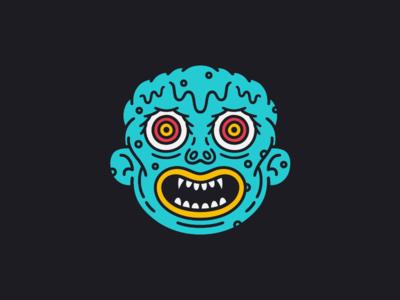 The Melt character creature eyes face illustration kaiju monster weird