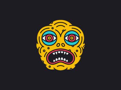 The Suffering character creature eyes face illustration kaiju monster weird