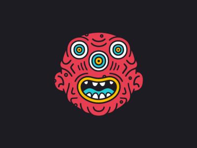 The Veins weird monster kaiju illustration face eyes creature character