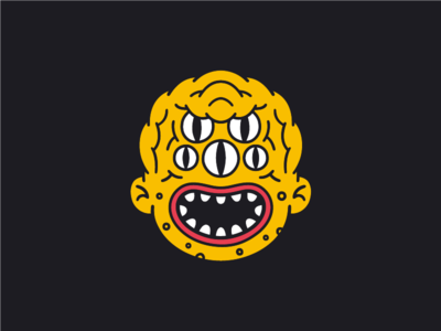 The Squidge yellow mouth series character creature eyes face illustration kaiju monster weird