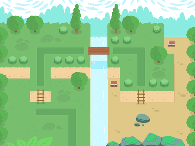 Game location game location tree level grass sky roads