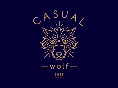 Casual Wolf, logo wolf logo lineart line