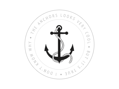 Anchors it's cool. anchor stamp logo cool simple