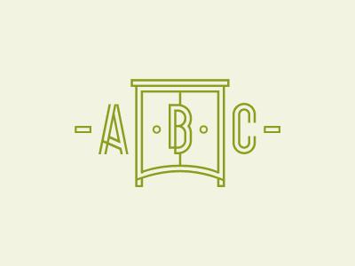 ABC logo logotype furniture abc geometric