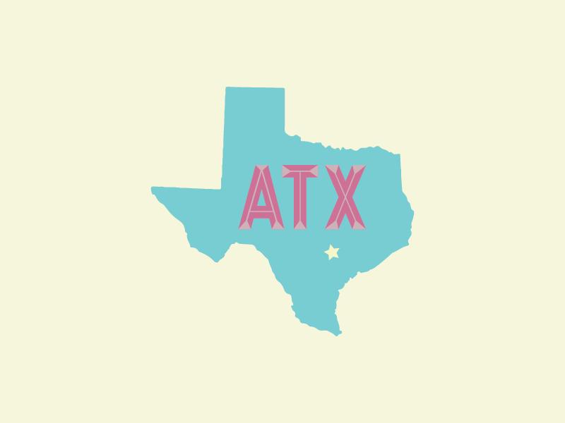 Austin, Texas illustrator lettering 3d weekend day memorial texas austin