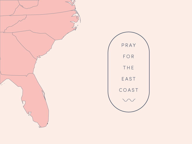 Pray for the east coast. east coast pray pray for the east coast hurricane irma irma lettering design creative illustrator graphics graphic design