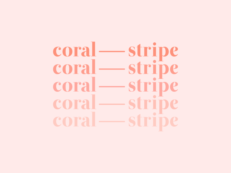 New brand + brand colors ombrè creative studio website logo type illustration ombre coral branding