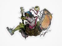 Skate Rock Sticker