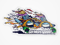 Get More Speed Sticker