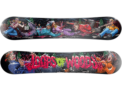 Dead Skiers. Snowboard design illustration snowboard thrash